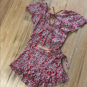 Red white and blue co ord